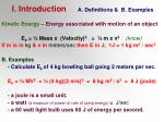 i introduction a definitions b examples