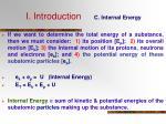 i introduction c internal energy