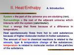 ii heat enthalpy a introduction