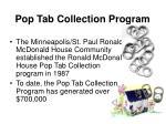 pop tab collection program