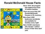 ronald mcdonald house facts