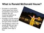 what is ronald mcdonald house