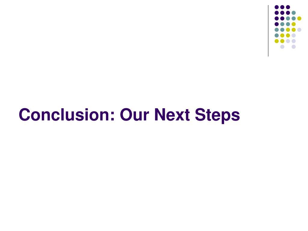 Conclusion: Our Next Steps