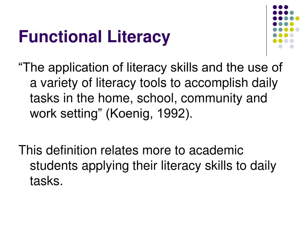 Functional Literacy