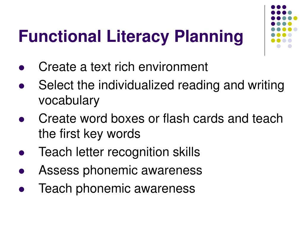 Functional Literacy Planning