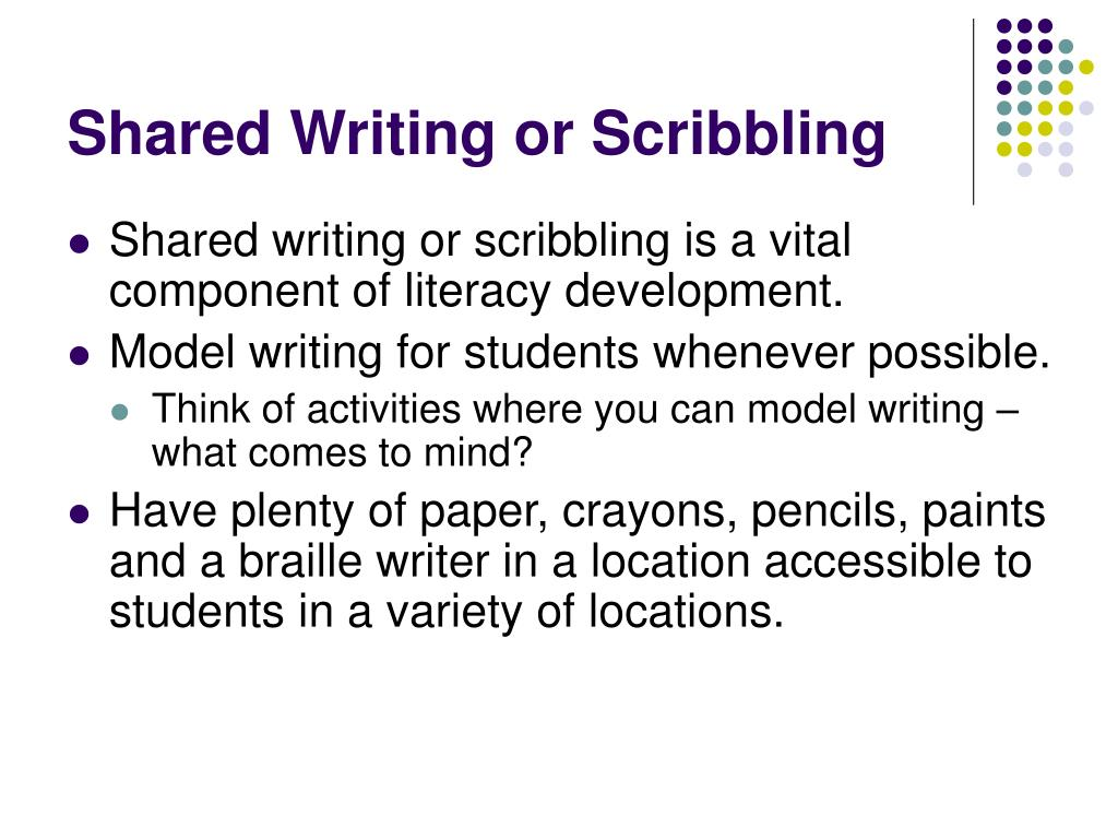 Shared Writing or Scribbling