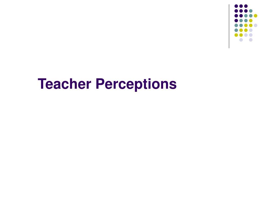 Teacher Perceptions