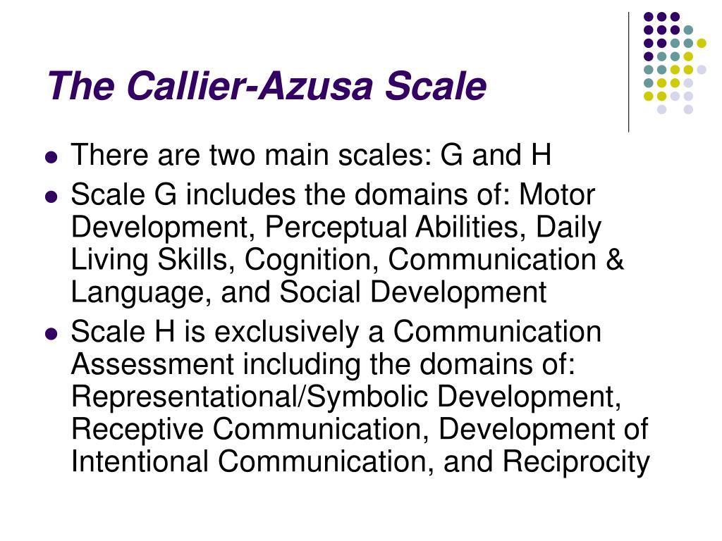 The Callier-Azusa Scale