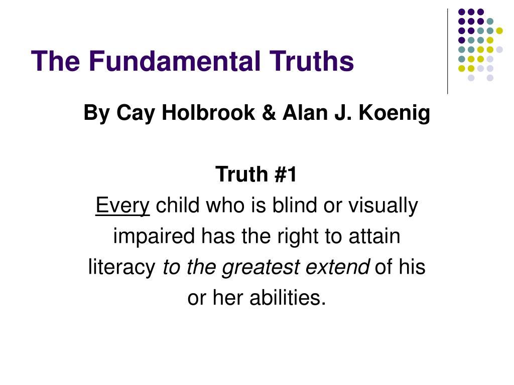 The Fundamental Truths