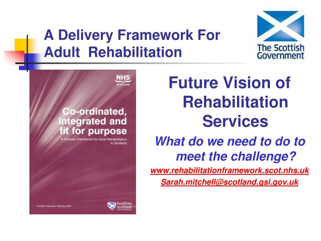 a delivery framework for adult rehabilitation l.