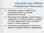 education law defines professional misconduct25