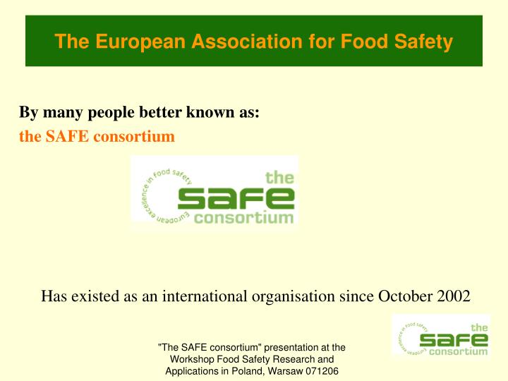 The european association for food safety