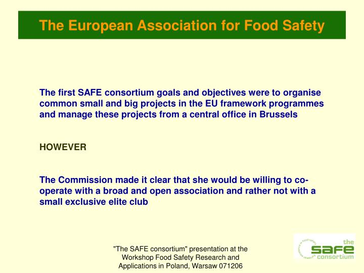 The european association for food safety2