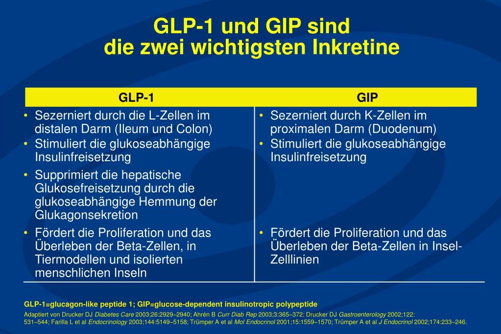 GLP-1 und GIP sind