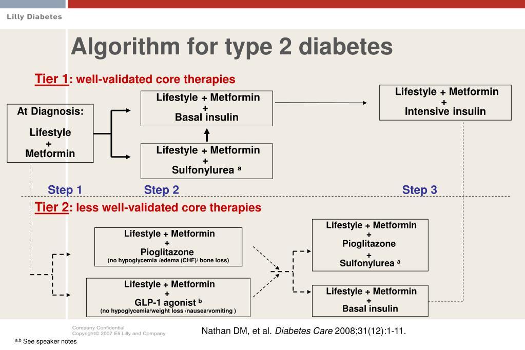 Algorithm for type 2 diabetes