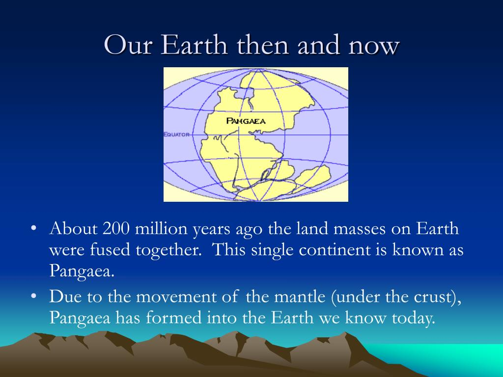 Our Earth then and now