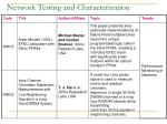 network testing and characterization21