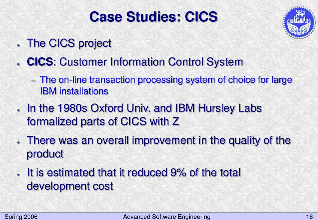 Case Studies: CICS
