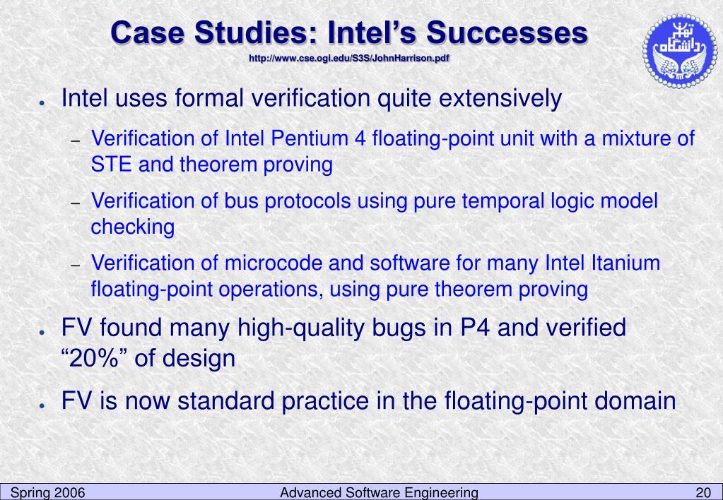 Case Studies: Intel's Successes