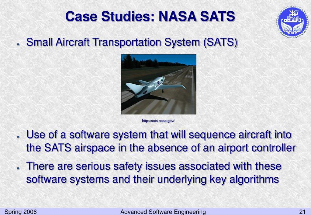 Case Studies: NASA SATS