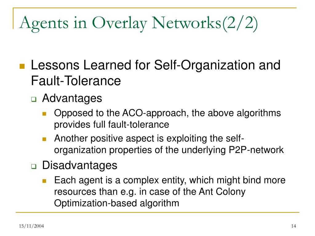 Agents in Overlay Networks(2/2)