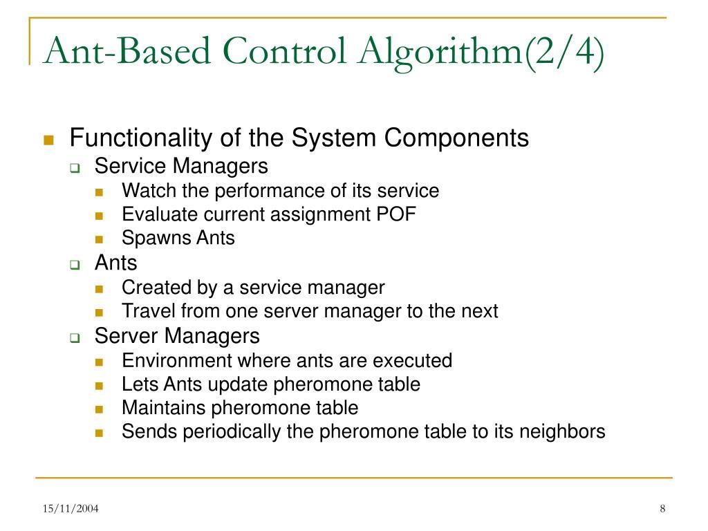 Ant-Based Control Algorithm(2/4)