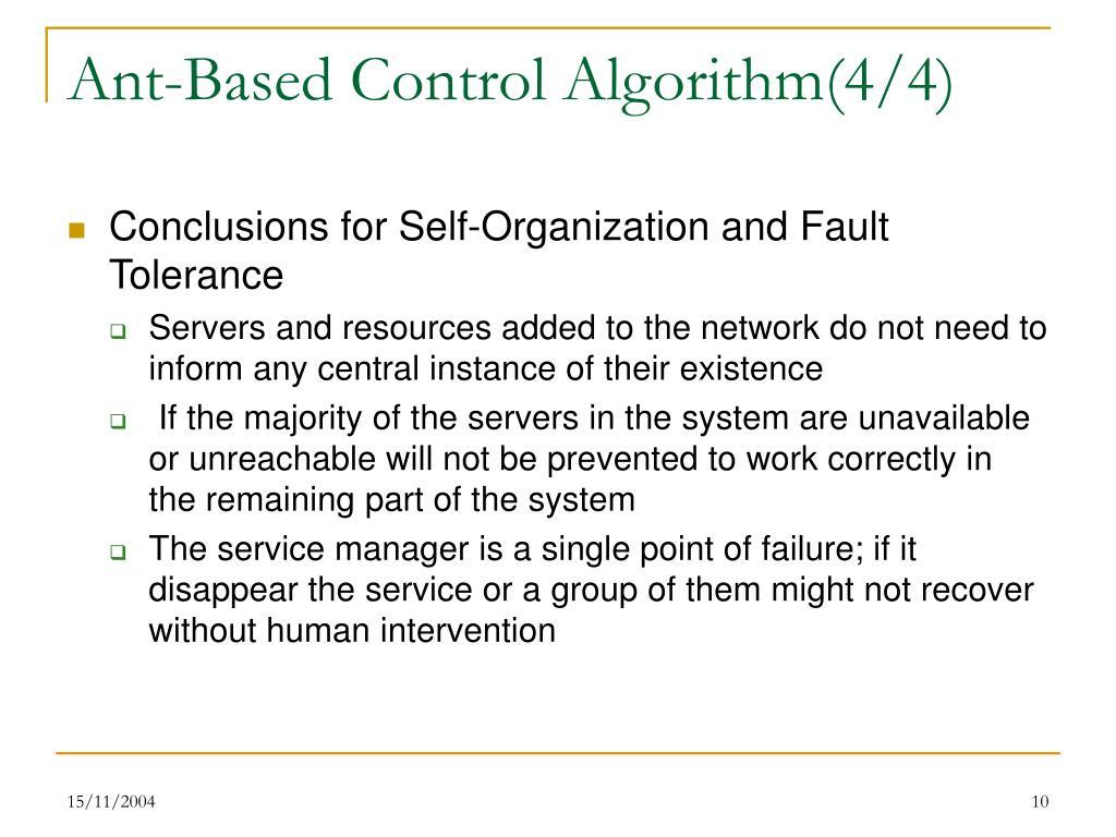Ant-Based Control Algorithm(4/4)