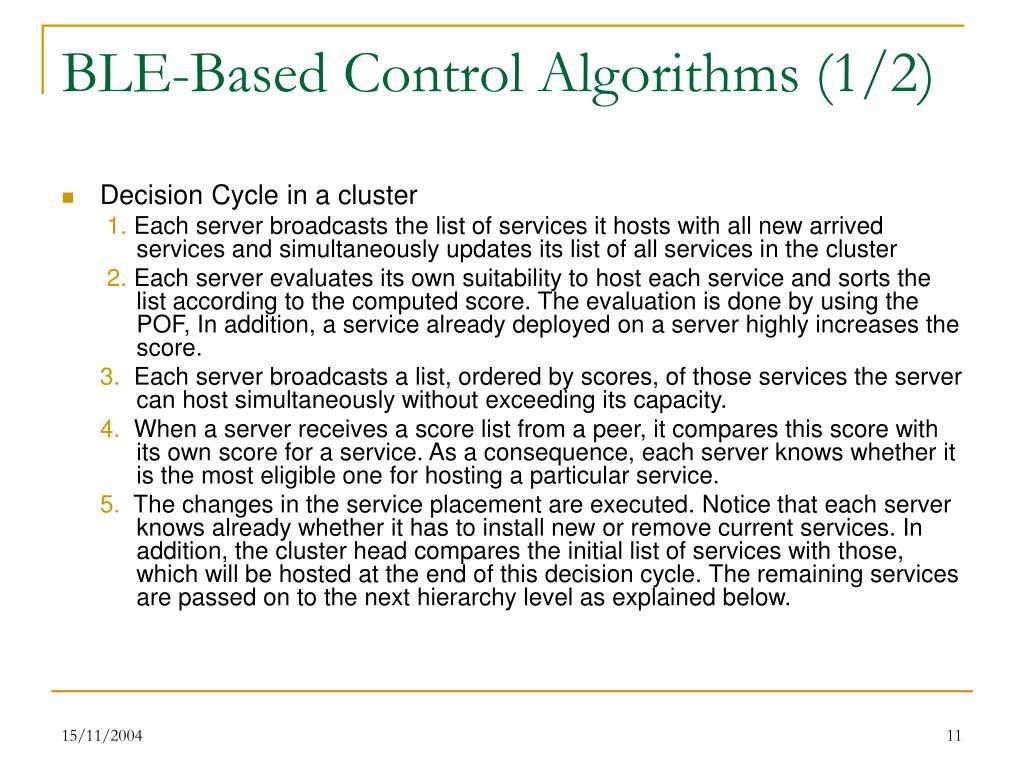 BLE-Based Control Algorithms (1/2)