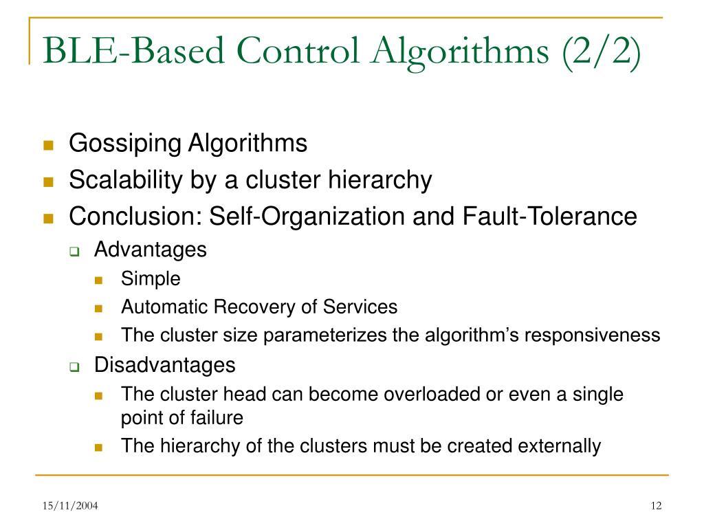 BLE-Based Control Algorithms (2/2)