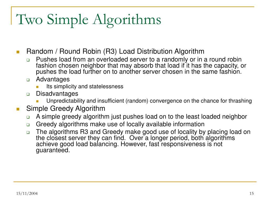 Two Simple Algorithms