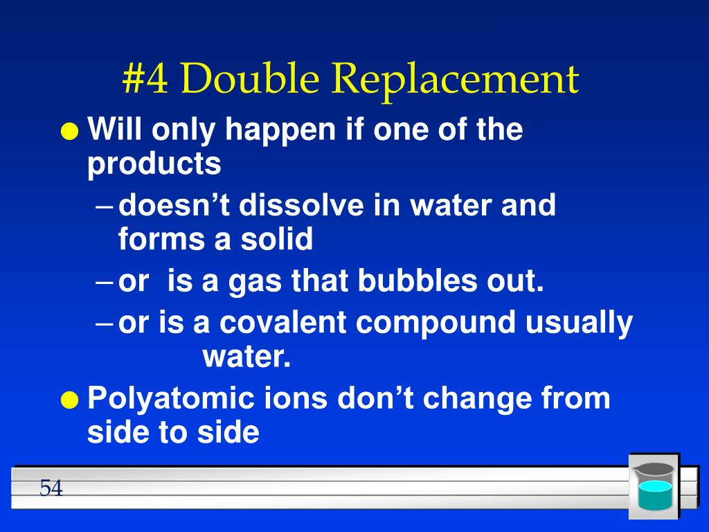#4 Double Replacement