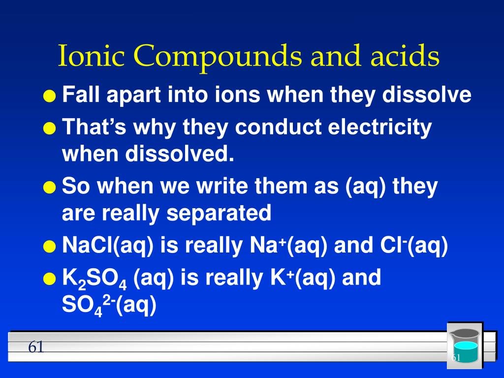 Ionic Compounds and acids