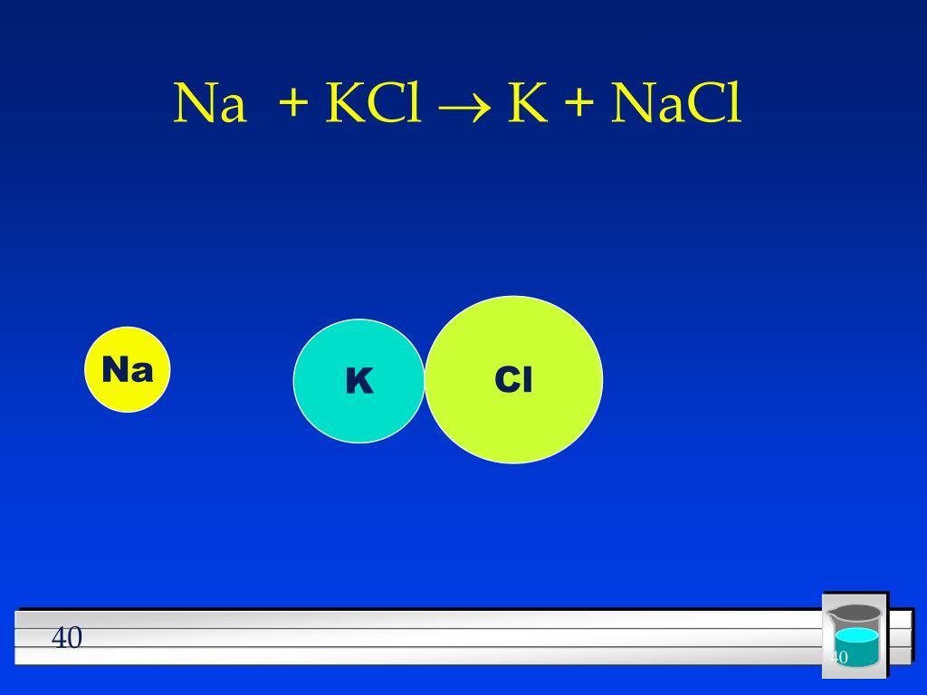 Na  + KCl