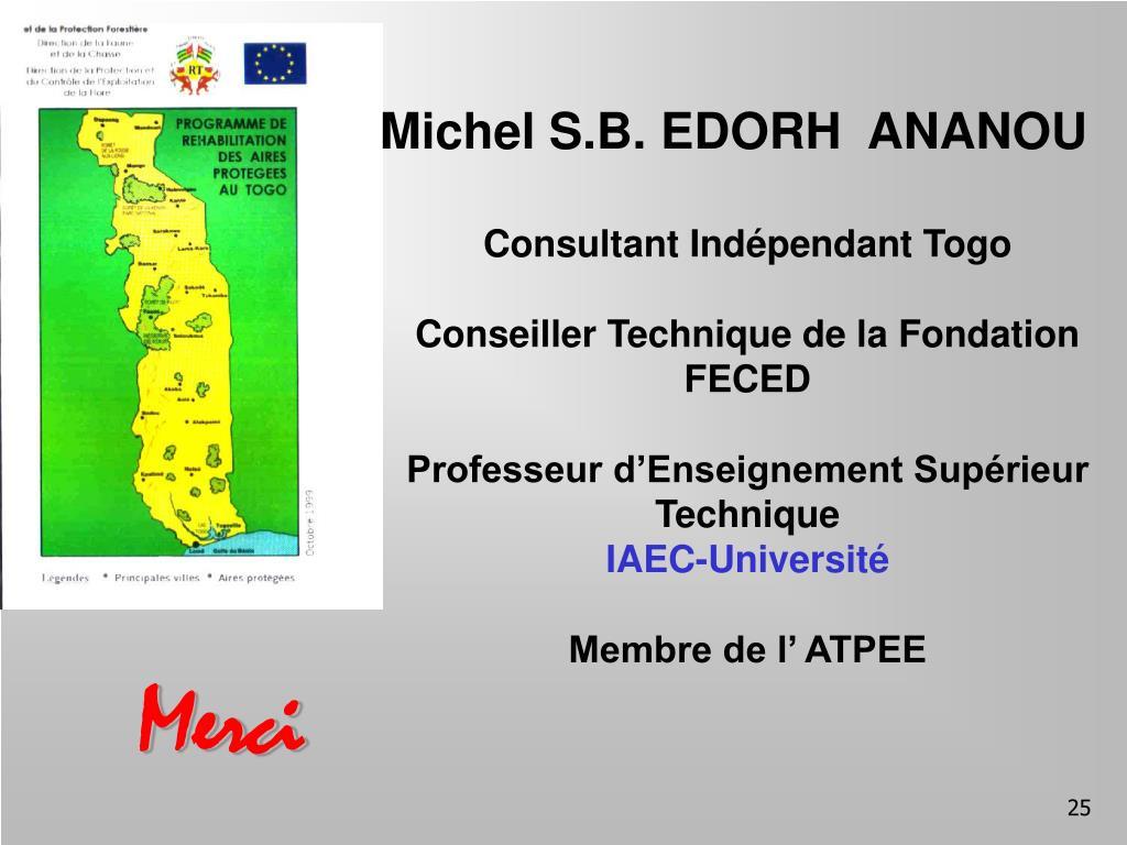 Michel S.B. EDORH  ANANOU