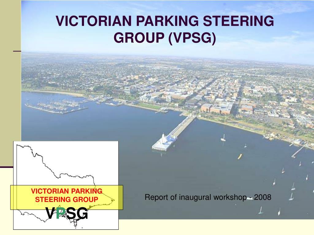 VICTORIAN PARKING STEERING GROUP