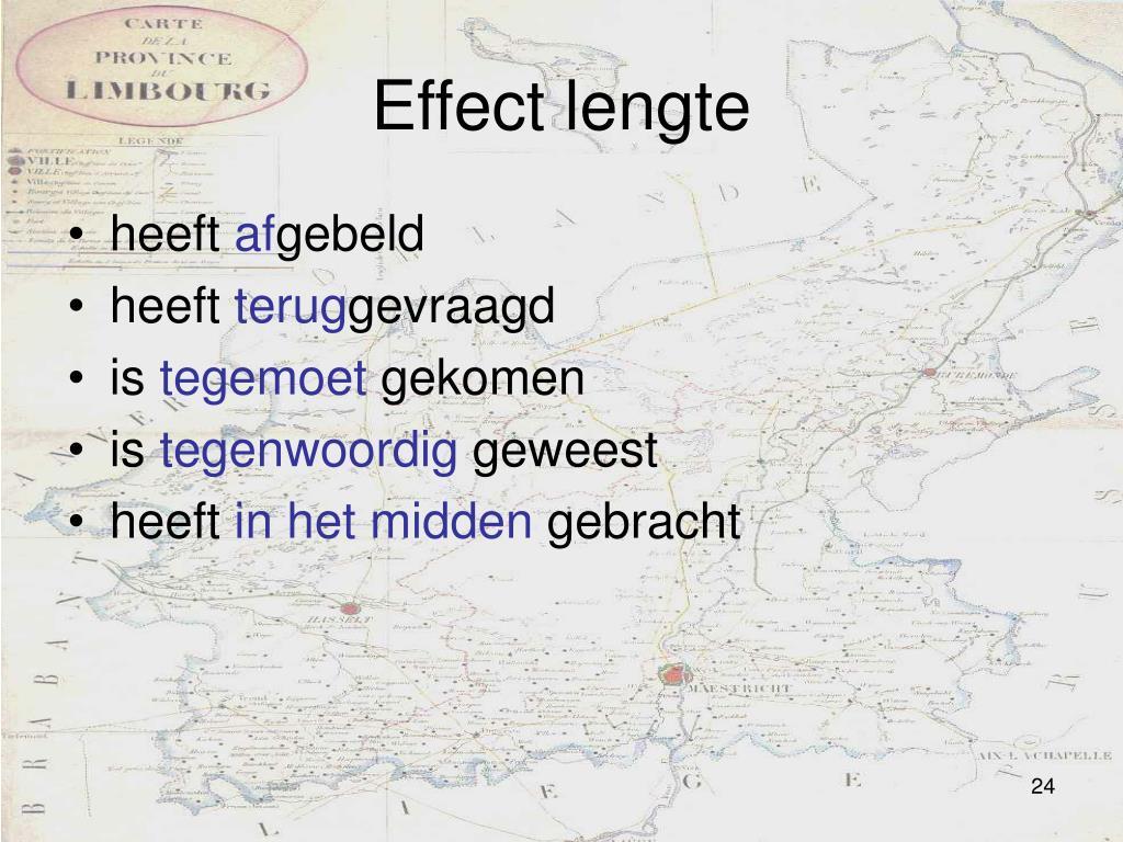 Effect lengte