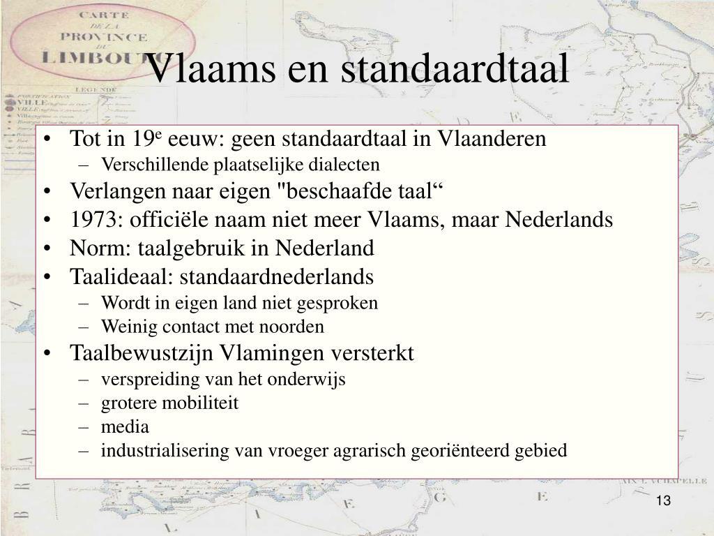Vlaams en standaardtaal