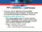 ppi networks pathways