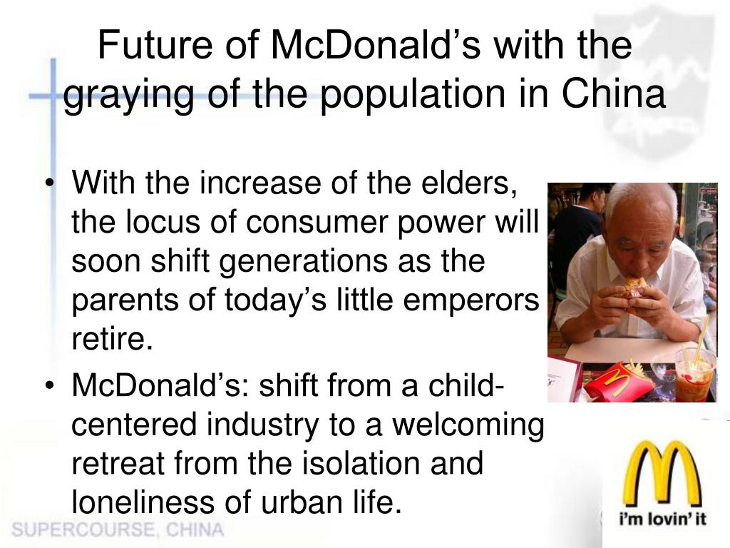 Future of McDonald's with the graying of the population in China