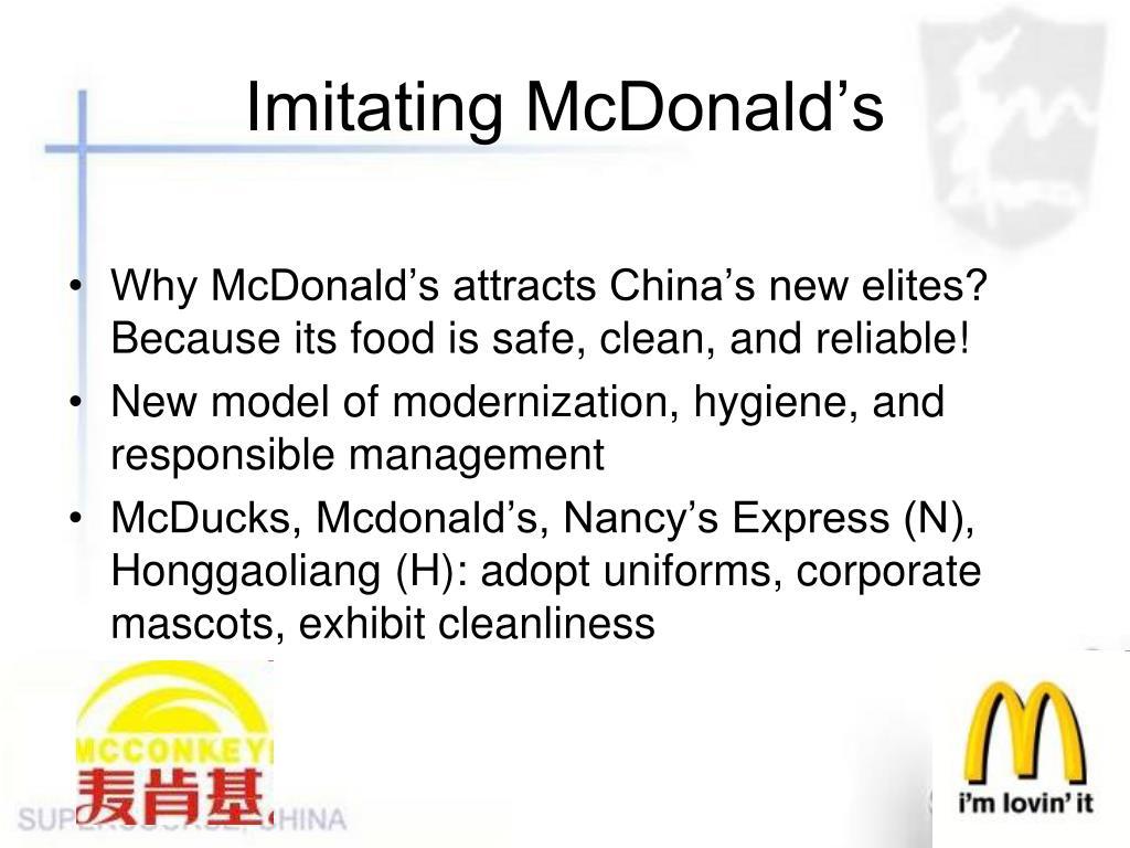 Imitating McDonald's