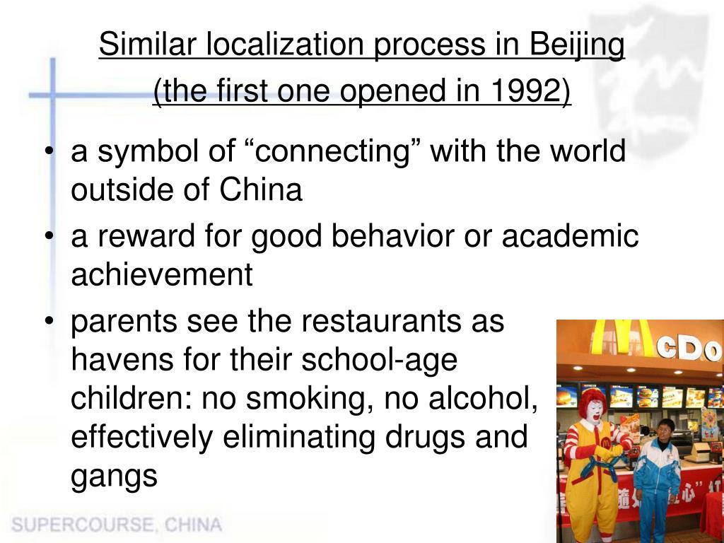 Similar localization process in Beijing