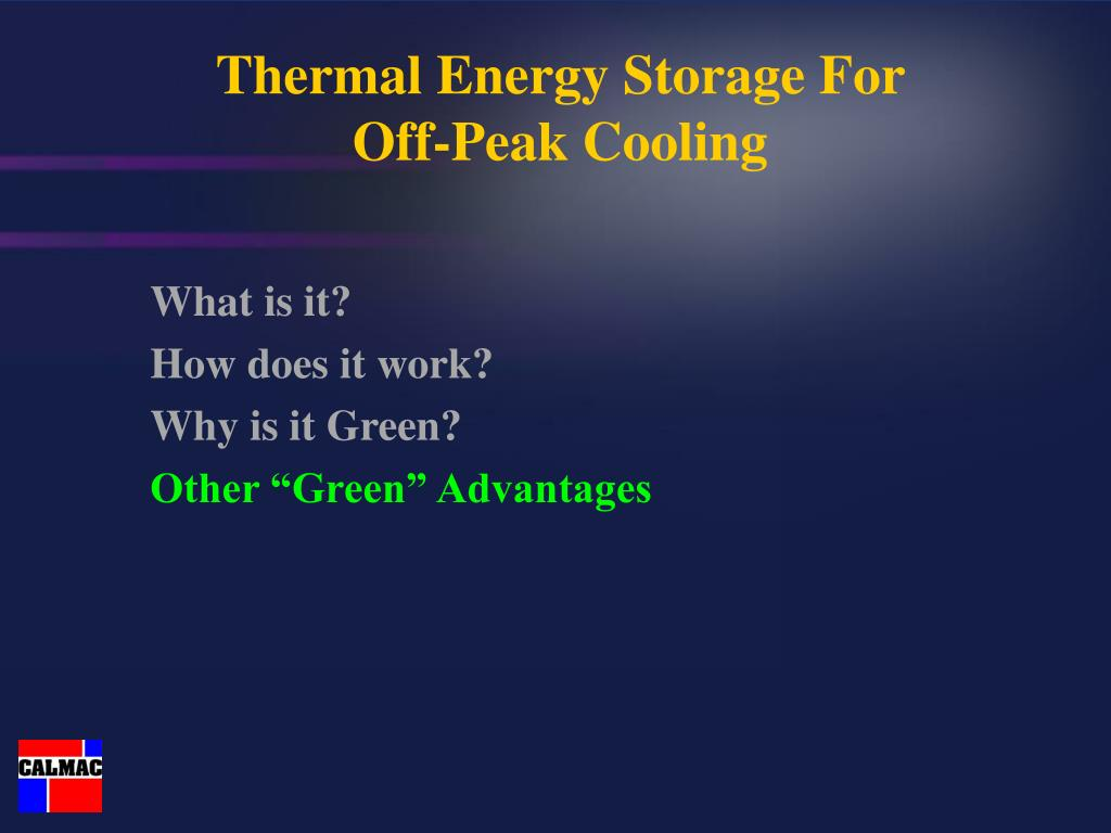 Thermal Energy Storage For