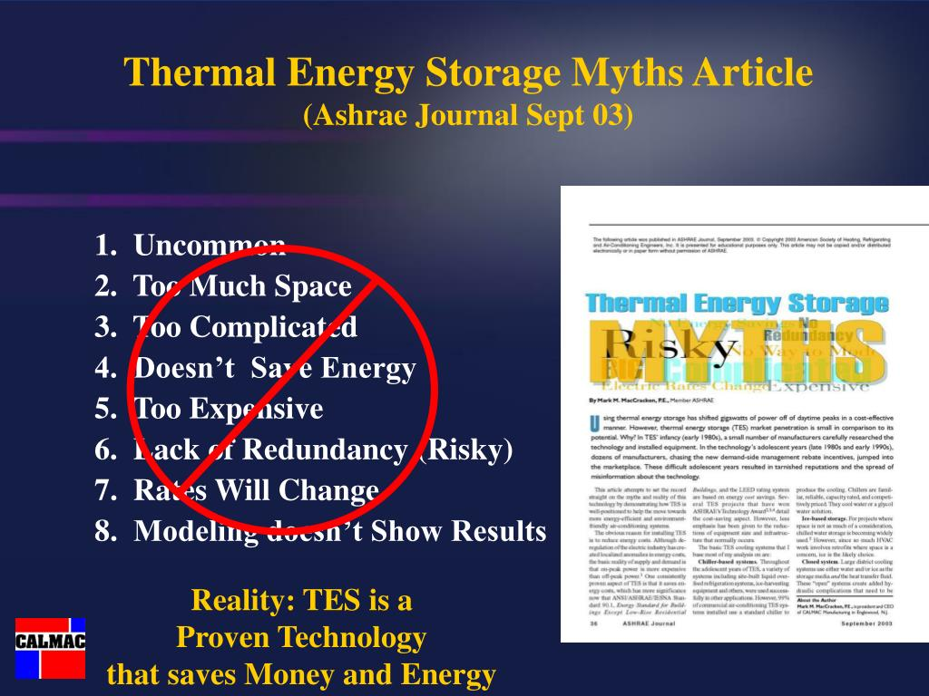 Thermal Energy Storage Myths Article