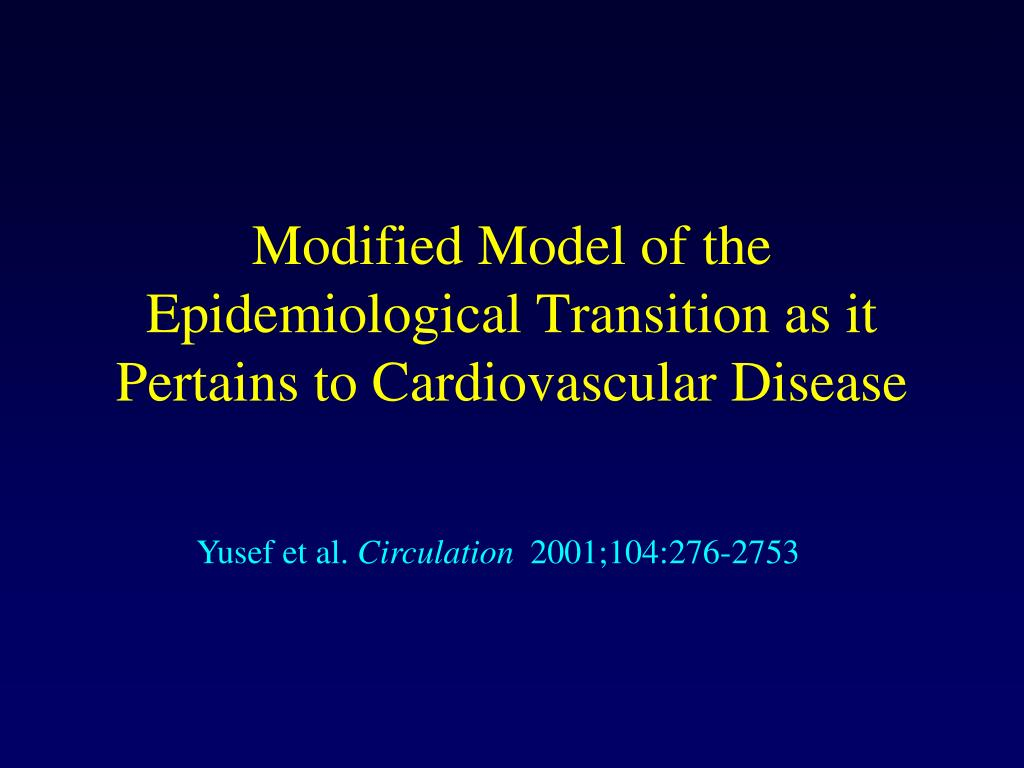 Modified Model of the Epidemiological Transition as it Pertains to Cardiovascular Disease