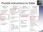 possible interventions for eddie