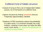 a different kind of hidden structure