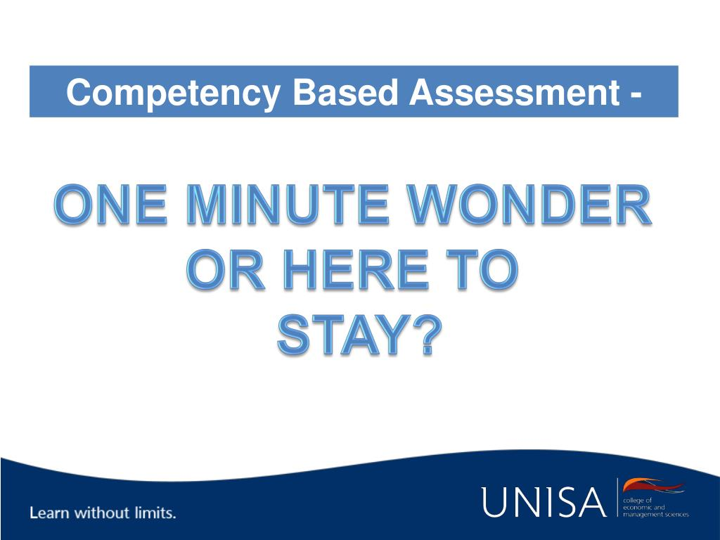 Competency Based Assessment -