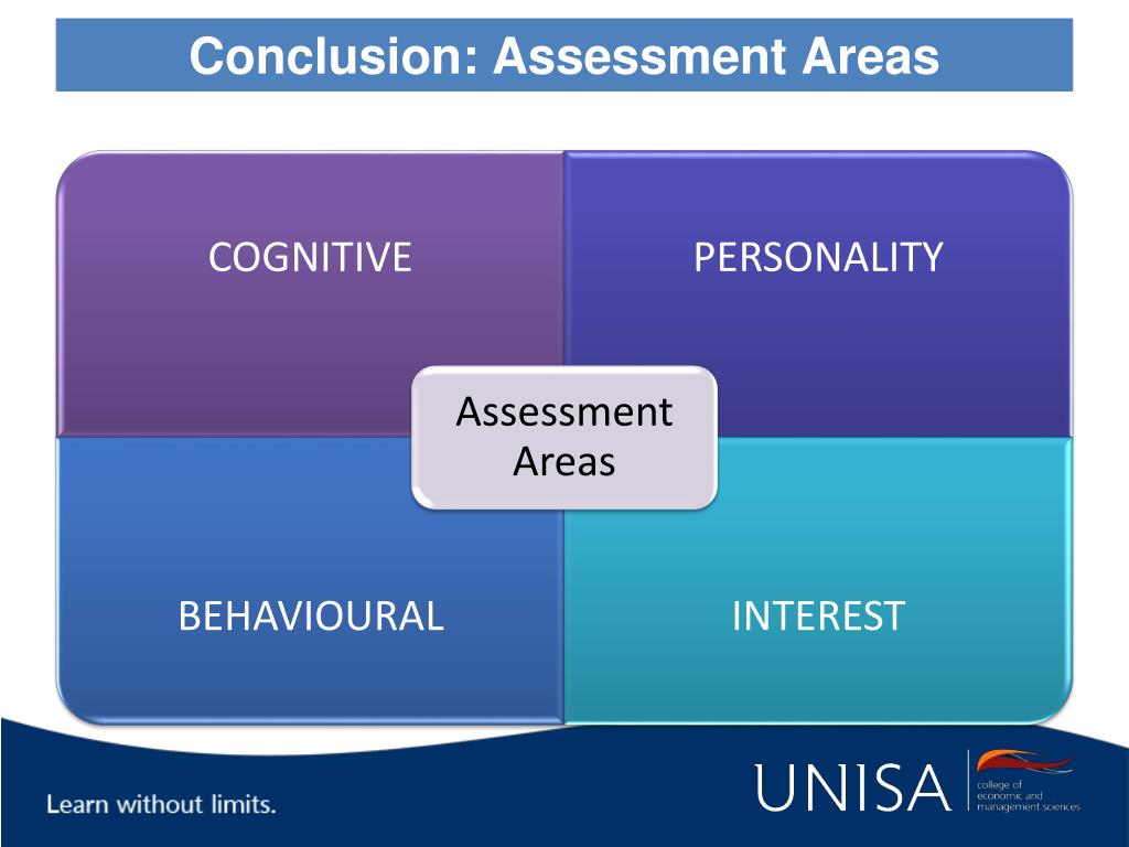 Conclusion: Assessment Areas