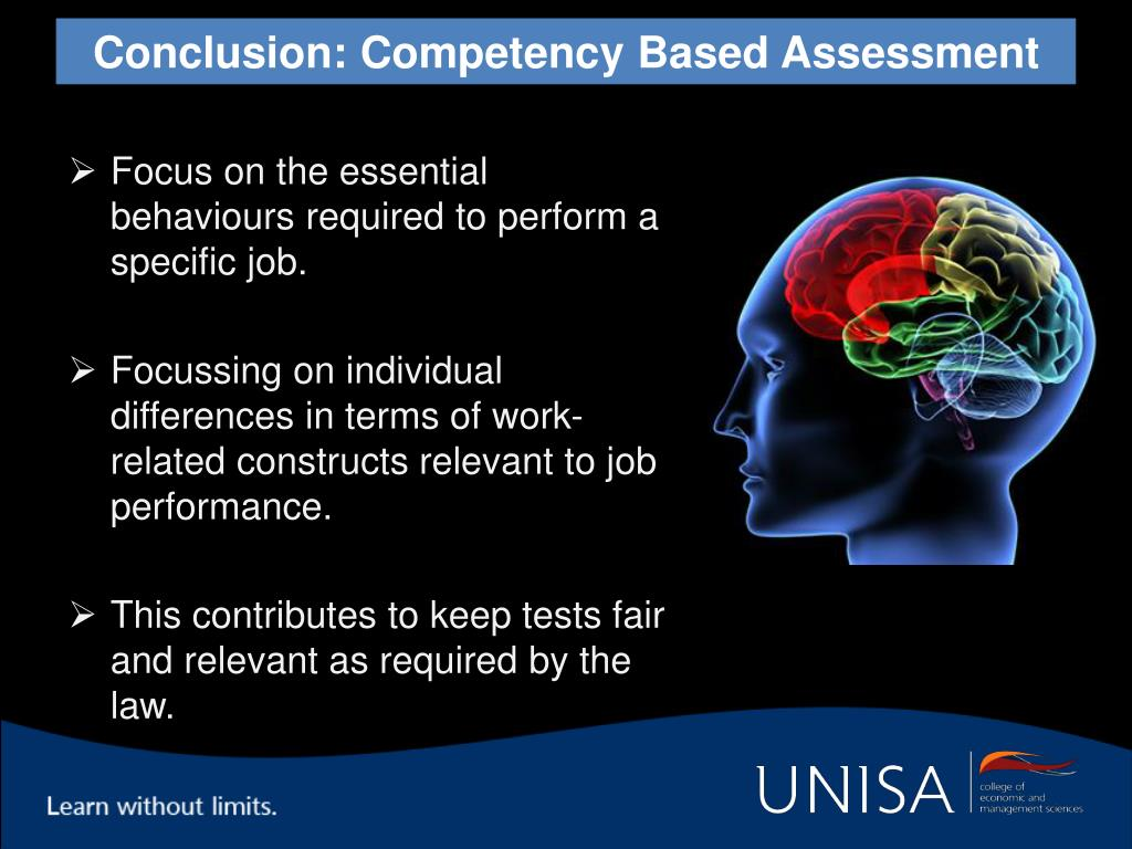 Conclusion: Competency Based Assessment