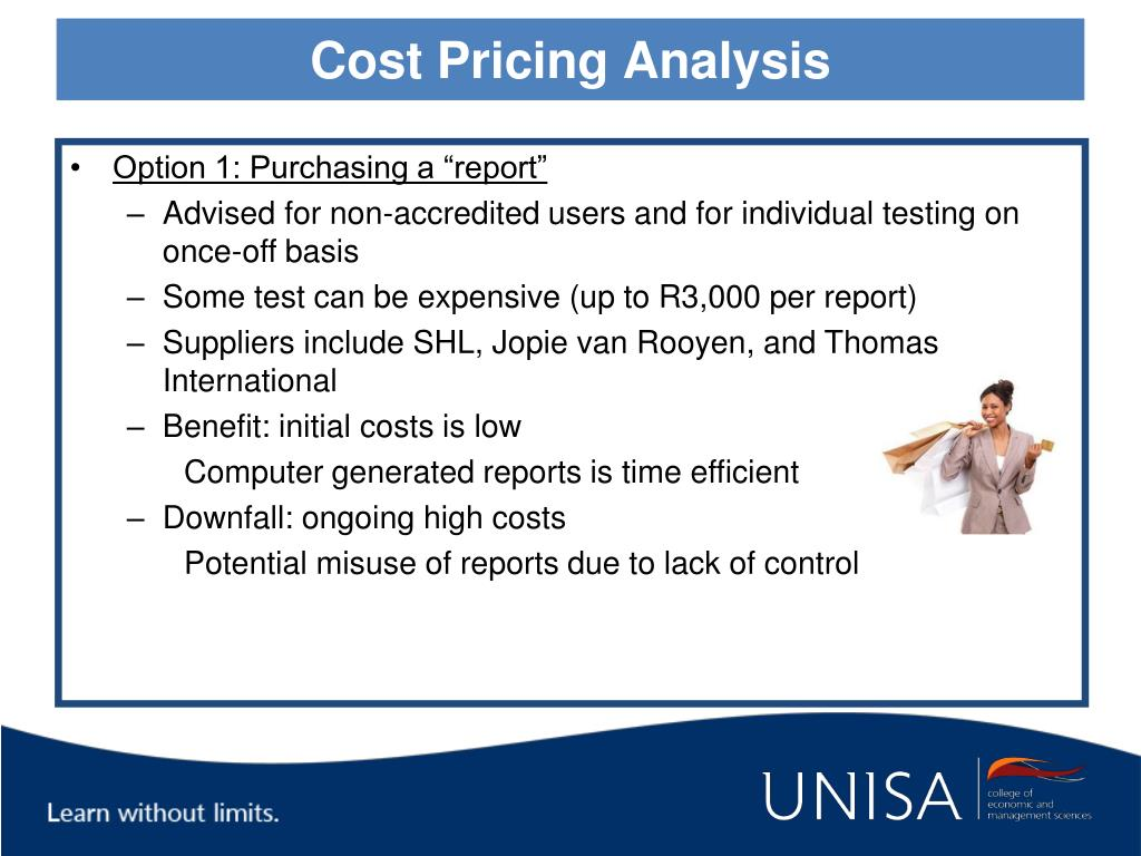 Cost Pricing Analysis